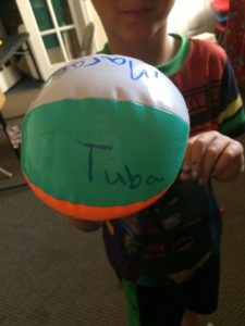 beach ball word practice